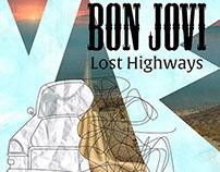 """Projeto fictício-Capa de Disco e cartaz """"Lost Highways"""""""