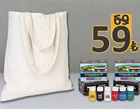 Hobi Bez Çanta Boyama Seti -Hobby Tote Bag Painting Set