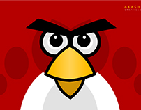 Illustration Art - Angry Bird (RED)