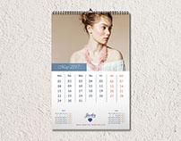 Jewelry Wall Calendar 2017