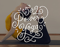502 Power Yoga Hand Lettering