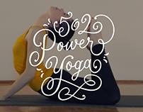 502 Power Yoga Hand Lettering