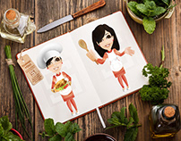 Chef Girl Character Vector Illustration