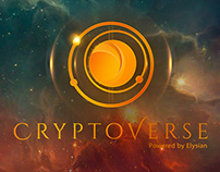 "Cryptocurrency platform ""Cryptoverse"" logo and SM"