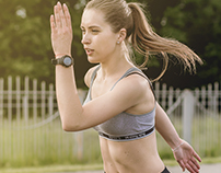 Run girl for Sporttime magazine