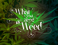 What you need is weed