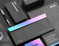 Blck Aesthetic Branding Mockup Kit