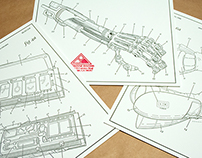 Arm-nold Schwarzenegger Patent Illustration Letterpress