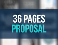 36 Pages Proposal and Portfolio  Brochure