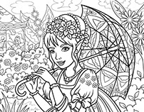 """'Fairies-2' coloring book. For Publishing House """"Ranok"""""""