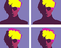 Typo Heroes ( Andy Warhol ) popart