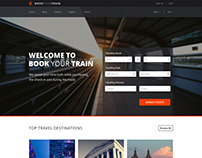 Book Your Train - Online Booking PSD Template