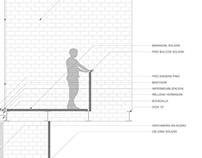 Detailed section Casa RR by Fino Lozano