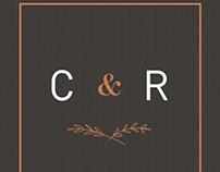 Custom Invitation Suite + Website Design / C & R
