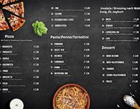 Uno Pasta & Pizza Menu Desig