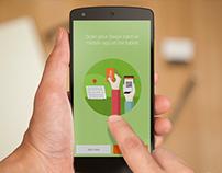 Mobile App Design: Swipii App Splash Page Concept