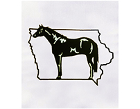 BLACK AND WHITE HORSE EMBROIDERY DESIGN