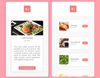🍣 Food Shopping App | Sushi - Freebie