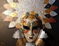 "Maschera di carnevale""Autunno signora"""