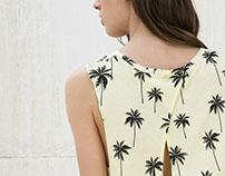 Palm tree t-shirt print for Bershka_SS16
