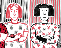 Long distance relationship with Illustration