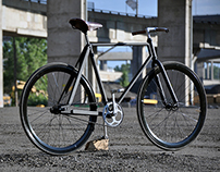 Voorhess; bike frame and hockey sticks