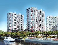 visualization of a residential complex, Kiev