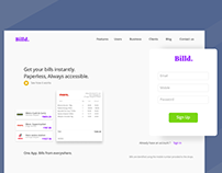 #dailyui #001 - Signup page for billd.in