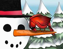 Illustration Le Cardinal en hiver