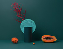 Limited edition vase Malevich with oxidized copper.