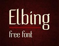 Elbing — free sans serif font