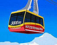 Zell Am See , Kaprun Ski Poster
