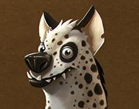 catoon hyena