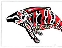 Whale - Fish - Adobe Illustrator - Vector