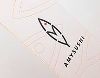 Amysushi - Logo and corporate identity