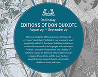 On Display: Editions of Don Quixote exhibit