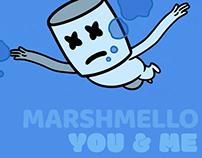 DJ Marshmello - You & Me - Animated Music Video