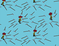 Sideshow Bob Repeating Pattern