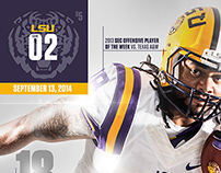 2014-2015 LSU Game Programs