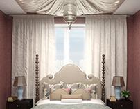 Спальня с нотками марокко
