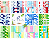 Bright and simple pattern collection
