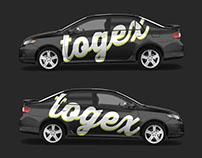 Free Mockup Toyota Corolla Car Wrap Template 2009