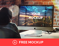"iMac 27"" Office Mockup 