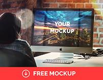 "iMac 27"" Office Mockup   Freebie"