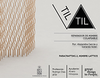 TIL TIL (collapsible space separator mimbre)