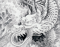 ink painting dragon 180411
