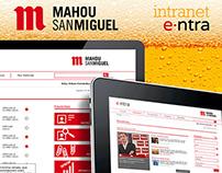 Mahou-San Miguel: Intranet (e·ntra)