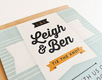Ben & Leigh's Wedding Invitation