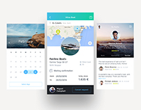 SHARE BOAT - IOS APP DESIGN