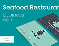 Seafood Restaurant Business Card Template
